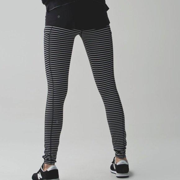 lululemon athletica Pants - Lululemon Speed Tight II Parallel Stripe high rise